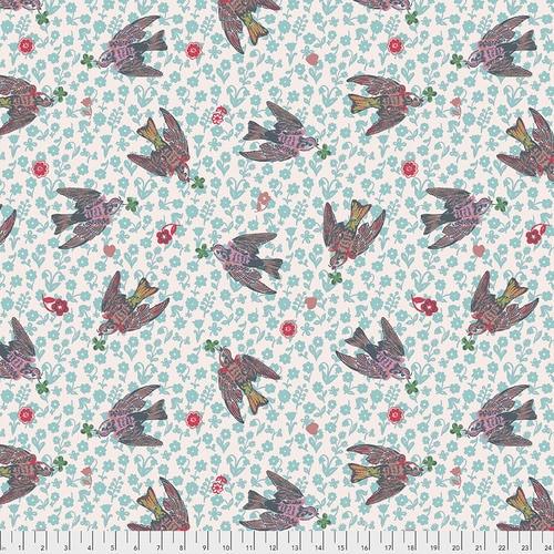 Free Spirit Fabrics - The Swallows Rose - Woodland Walk - Nathalie Lete