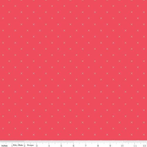 Riley Blake Fabrics - Cayenne - Bee Cross Stitch - Lori Holt