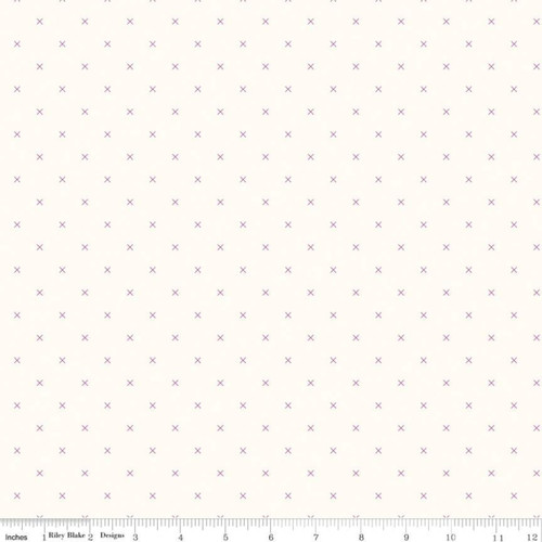 Riley Blake Fabrics - Cloud Plum - Bee Cross Stitch - Lori Holt