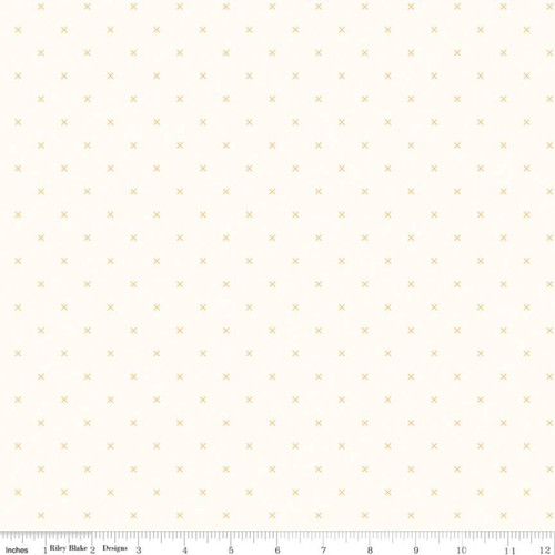 Riley Blake Fabrics - Cloud Daisy - Bee Cross Stitch - Lori Holt