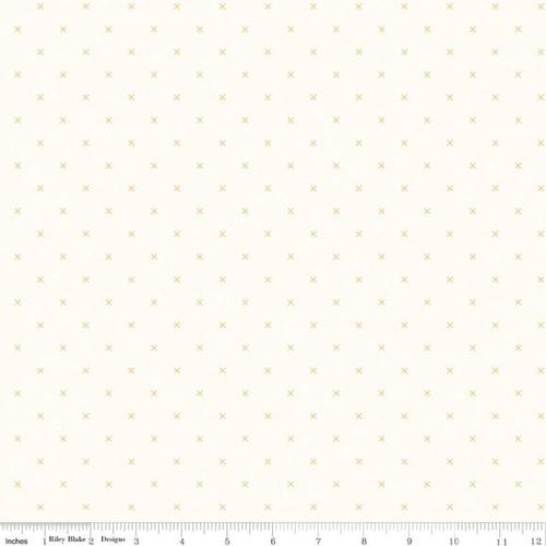 Riley Blake Fabrics - Cloud Daisy - Bee Cross Stitch - Lori Holt
