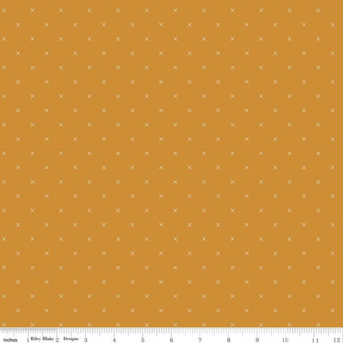 Riley Blake Fabrics - Butterscotch - Bee Cross Stitch - Lori Holt