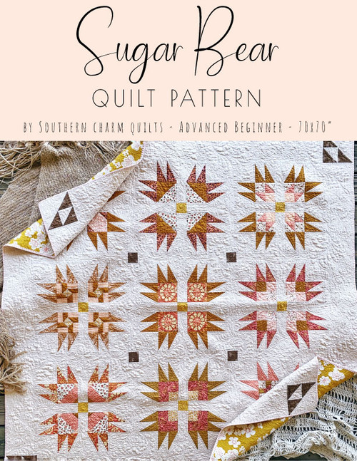 Sugar Bear Quilt Pattern - Paper Pattern