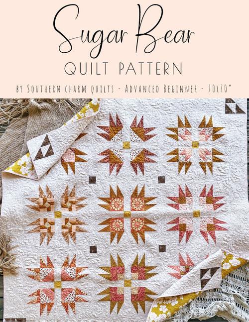 Sugar Bear Quilt Pattern - Paper Pattern