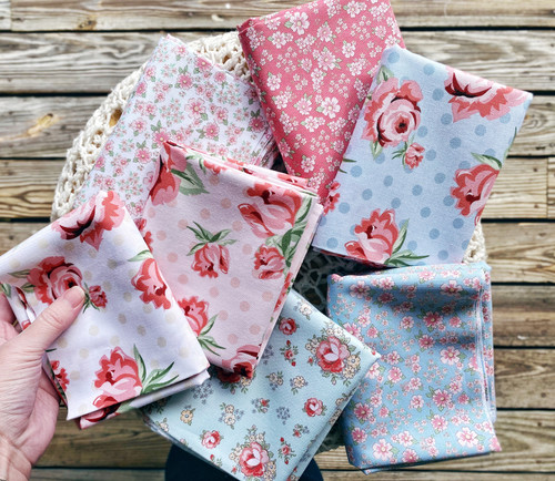 Dots & Posies - 7 pieces - Poppie Cottons
