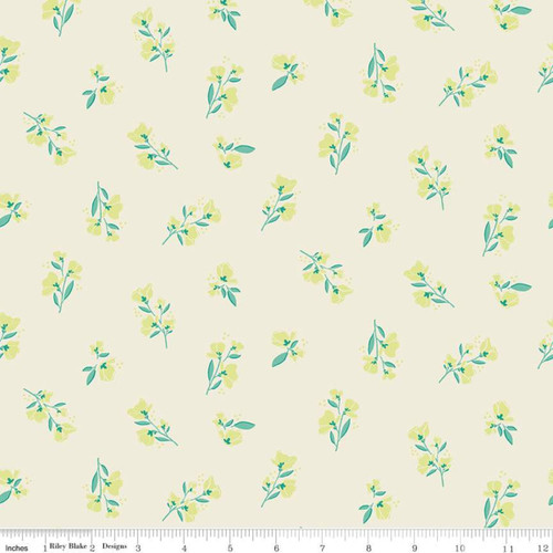 Blossom Cream - Midsummer Meadow - Katherine Lenious - Riley Blake Designs