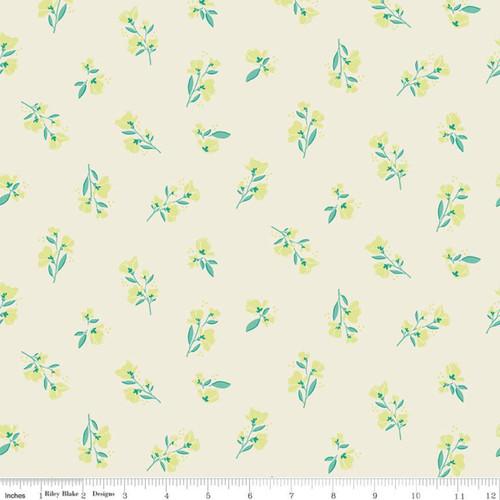 Blossom Cream - Midsummer Meadow - Katherine Lenious - Riley Blake Designs