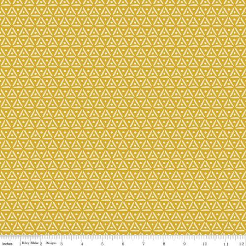 Geo Antique Gold - Faith Hope & Love - Sue Daley - Riley Blake Designs