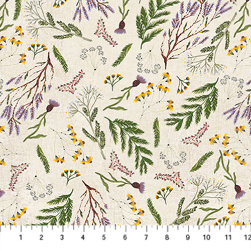 Flowers Green Multi - Wildflower - Boccaccini Meadows - Figo Fabrics