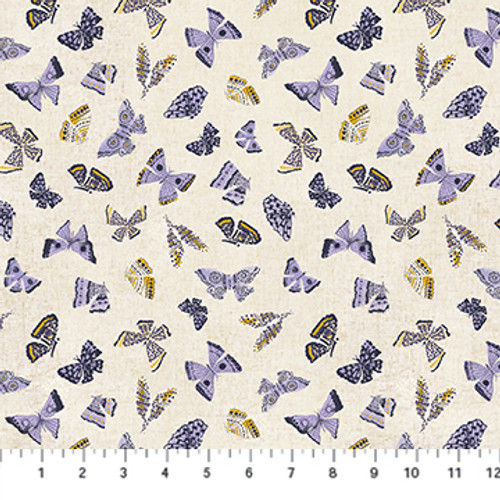 Butterflies Purple Multi - Wildflower - Boccaccini Meadows - Figo Fabrics