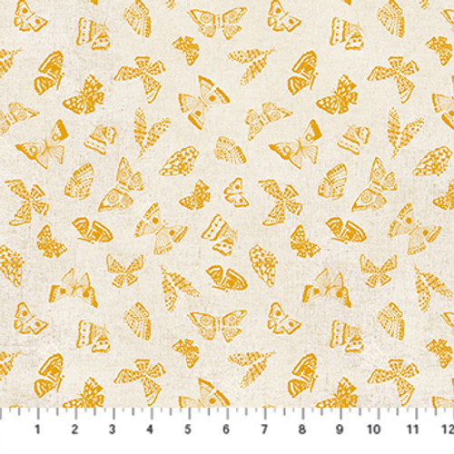 Butterflies Yellow Multi - Wildflower - Boccaccini Meadows - Figo Fabrics
