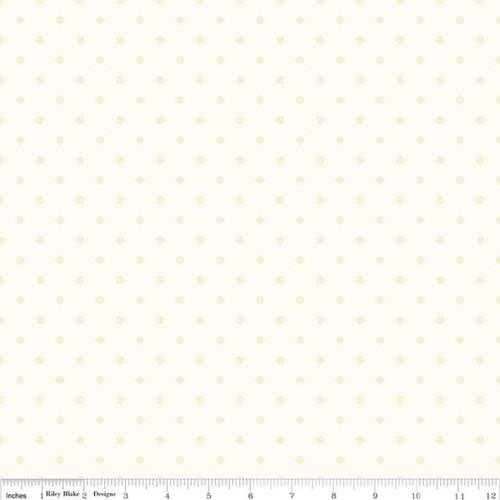 Swiss Dot Small - Cream - The RBD Designers - Riley Blake