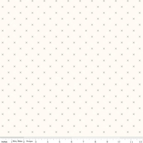 Bee Cross Stitch - Cloud Pebble - Lori Holt - Riley Blake