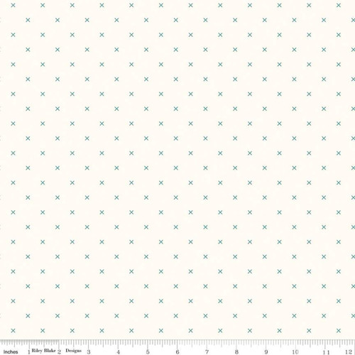 Bee Cross Stitch - Cloud Jade - Lori Holt - Riley Blake