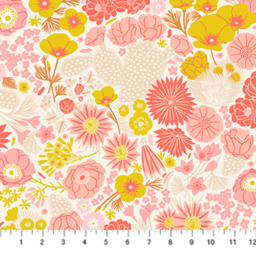 Prickly Pear - Flowers Beige - Emily Taylor - Figo Fabrics