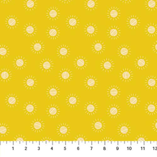Prickly Pear - Sun Yellow - Emily Taylor - Figo Fabrics