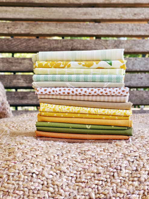 Treehugger Fat Quarter Bundle  - 15 Pieces - Curated for the Little Miss Sawtooth OR Sugar Bear Quilts