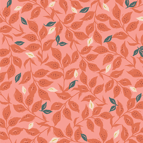 Woodcut Sunset - Velvet - Amy Sinbaldi - Art Gallery Fabrics