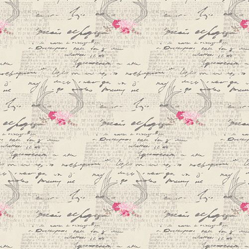 Art Gallery Fabrics - Amorous Manuscript - Vintage Chic Capsules - By AGF Studio
