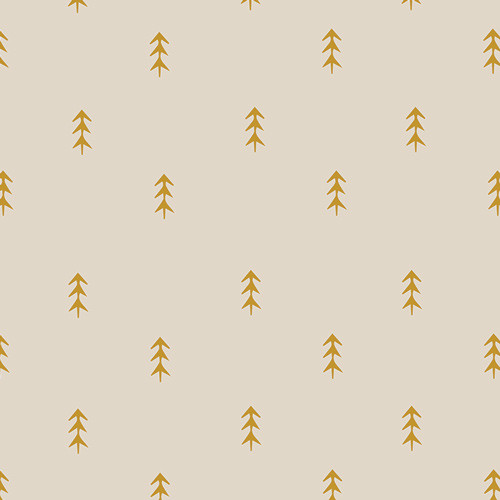 Simple Defoliage Gold - Autumn Vibes - Maureen Cracknell - Art Gallery Fabrics