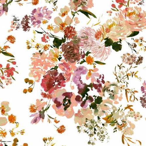 Coral Wildflowers - Wildflowers - Kelly Ventura - Windham Fabrics