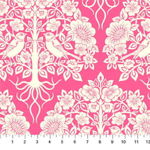 Aflutter Pink - True Kisses - Heather Bailey - Figo Fabrics