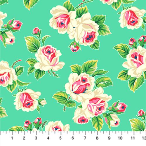 Fling Turquoise - True Kisses - Heather Bailey - Figo Fabrics