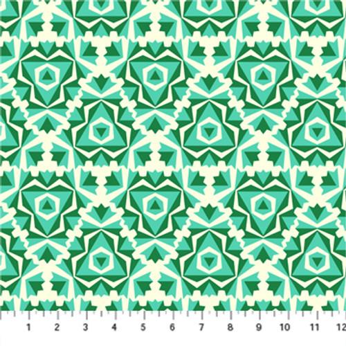 Pursuit Turquoise - True Kisses - Heather Bailey - Figo Fabrics