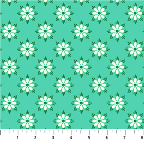 Darling Turquoise - True Kisses - Heather Bailey - Figo Fabrics