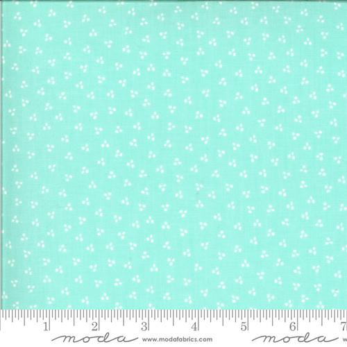 Spring Dots Aqua - Happy Days - Sherri & Chelsi - Moda Fabrics