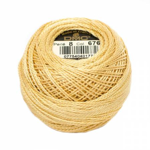 Pearl Cotton Balls - Size 8 - Light Old Gold - Color 676