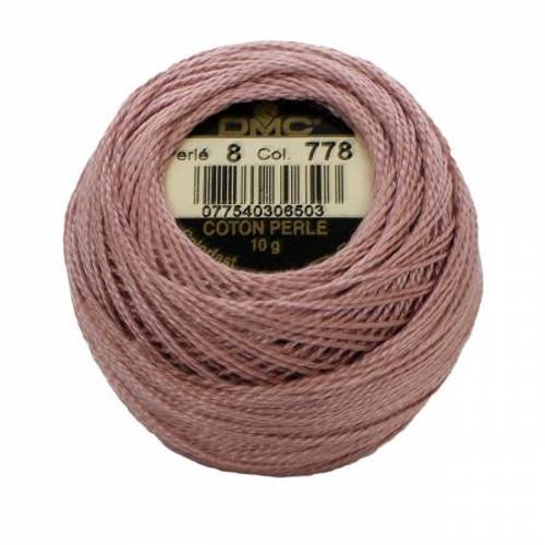 Pearl Cotton Balls - Size 8 - Very Light Antique Mauve - Color 778