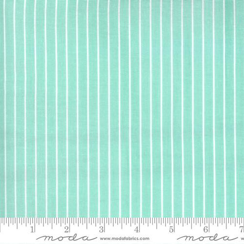 Wide Stripe Aqua - Sunday Stroll - Bonnie & Camille - Moda