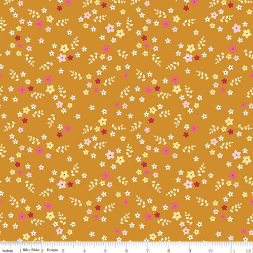 Floral Butterscotch - Stardust - Beverly McCullough - Riley Blake