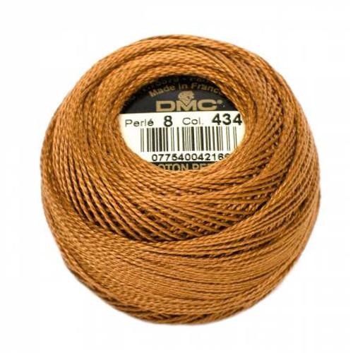 Pearl Cotton Balls - Size 8 - Light Brown - Color 434