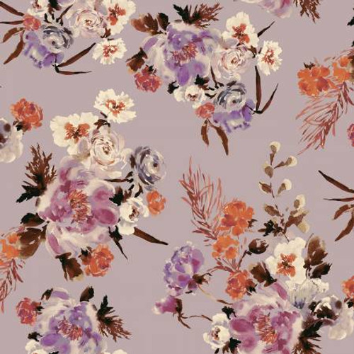 Mauve Coral Charm - Wildflowers - Kelly Ventura - Windham Fabrics