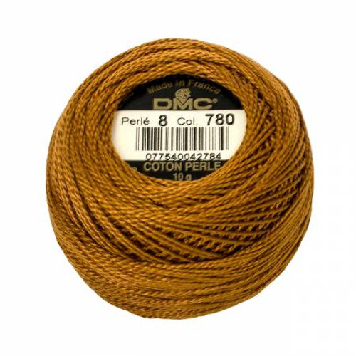 Pearl Cotton Balls - Size 8 - Ultra Very Dark Topaz - Color 780