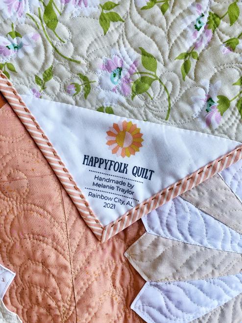 Happyfolk Quilt Label