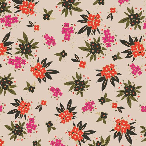 Cherished Gatherings Gloom - Open Heart - Maureen Cracknell - Art Gallery Fabrics