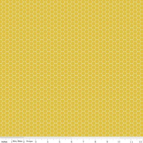 Honeycomb Mustard - Tea with Bea - Katherine Lenius - Riley Blake Designs