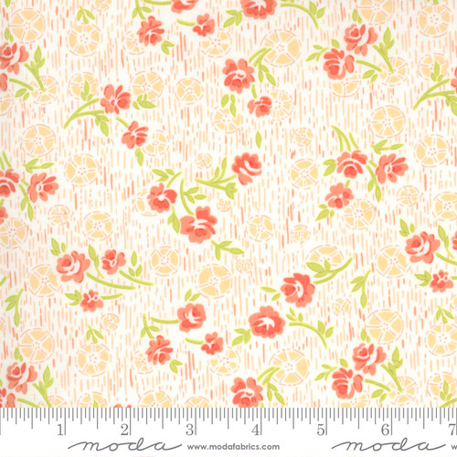 Summer Posies Crisp Line - Strawberries Rhubarb - Fig Tree - Moda Fabrics