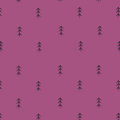 Simple Defoliage Violet - Autumn Vibes - Maureen Cracknell - Art Gallery Fabrics