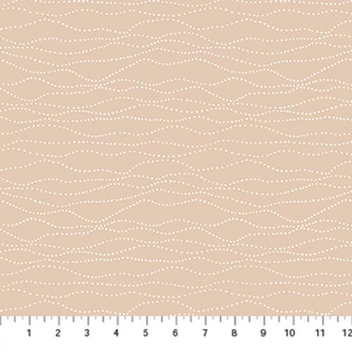 Stripe Beige - Winter's Frost - Boccaccini Meadows - Figo Fabrics