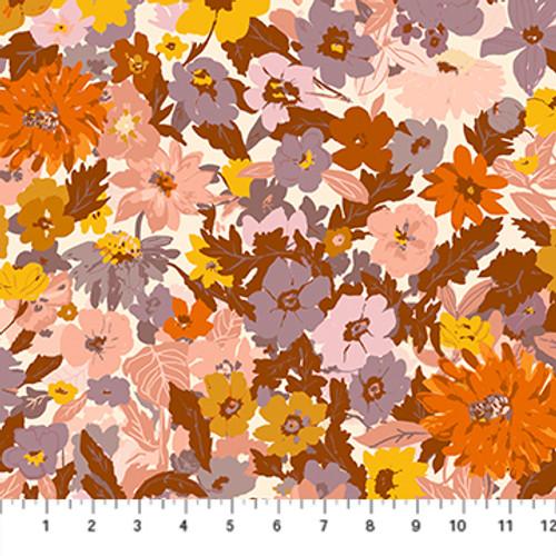 Floral Lilac Multi - Summer's End - Alison Janssen - Figo Fabrics