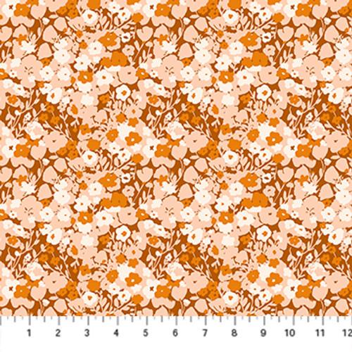 Small Flowers Rust Multi - Summer's End - Alison Janssen - Figo Fabrics