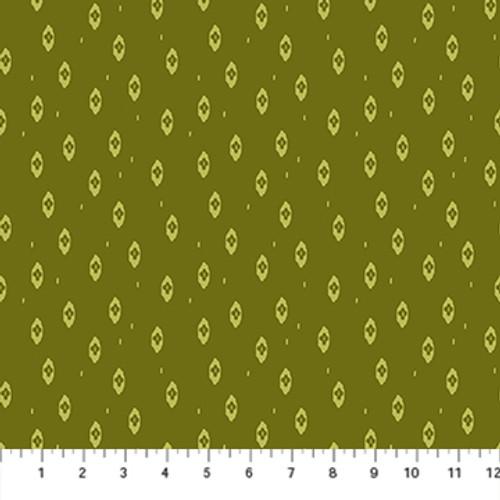 Ikat Green - Summer's End - Alison Janssen - Figo Fabrics