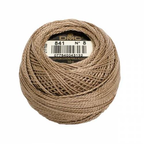 Pearl Cotton Balls - Size 8 - Light Beige Brown - Color 841