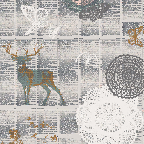 Art Gallery Fabrics - Doiland Gloss - Sparkler Fusion Collection - By AGF Studio