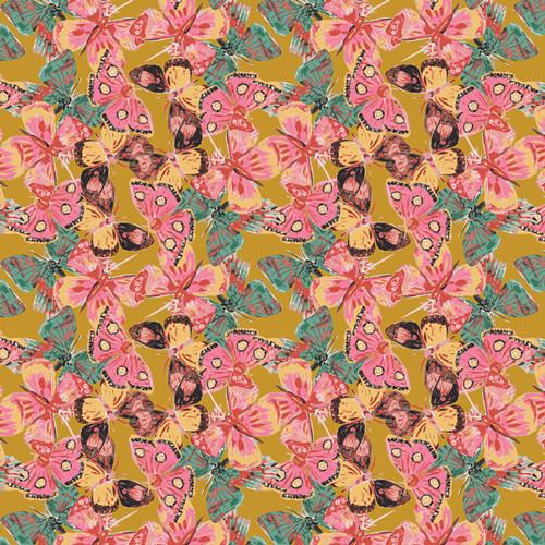 Flutterflies Earth - Eve - Bari J - Art Gallery Fabrics