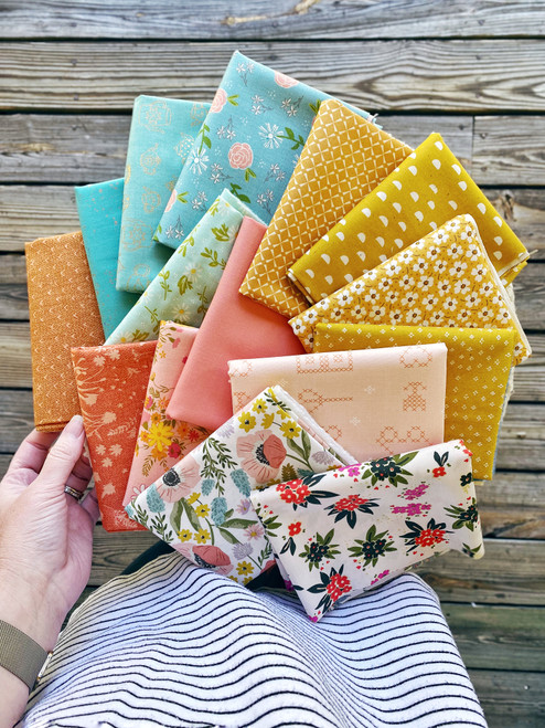 Happy Happy Bundle  - 15 Pieces - Curated for the Little Miss Sawtooth OR Sugar Bear Quilts